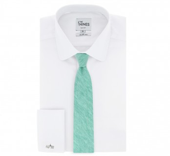 Emerald green Braided silk and linen tie The Nines