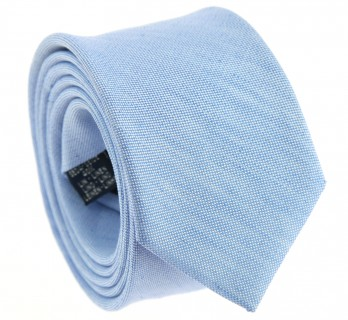 Blue Braided silk and linen tie The Nines