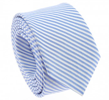 Blue tie with white stripes The Nines