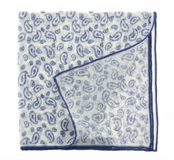 Beige pocket square with cashmere pattern The Nines