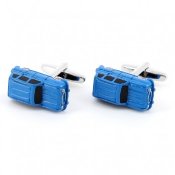 Car cufflinks - 4L blue