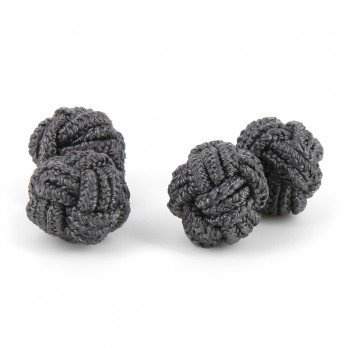 Anthracite grey silk knots - Bombay