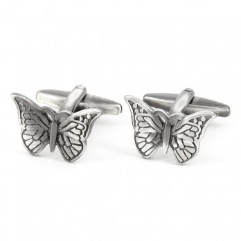 Butterfly cufflinks - Monarch butterfly
