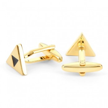 Gold triangel cufflinks - Samos