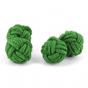 Grass green silk knots - Bombay