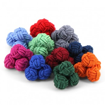 Unicolor selection silk knots - Bombay