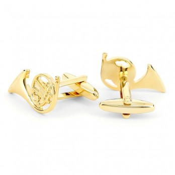 Music cufflinks - French Horn