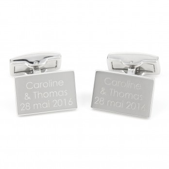 Rectangle engravable cufflinks