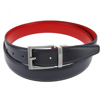 THE NINES REVERSIBLE NAVY BLUE AND RED BELT