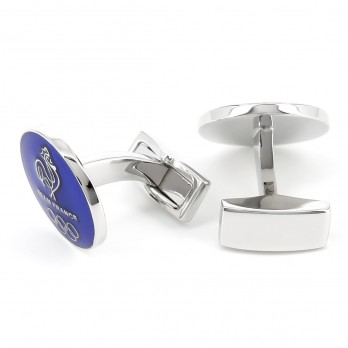 Blue round Olympics cufflinks - Team France