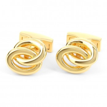 Gold ring cufflinks - Venice II gold