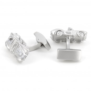 Silver car AC Cobra cufflinks - Shelby