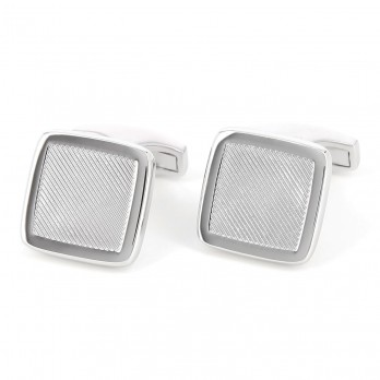 Sterling silver square cufflinks - Lund