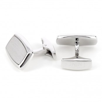 Rectangular sterling silver cufflinks - Nottingham II