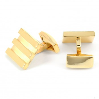 Gold square cufflinks - Newport