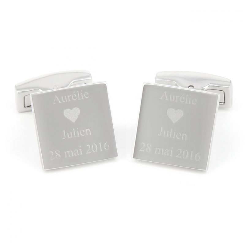 Sterling Silver Engravable Cuff Links