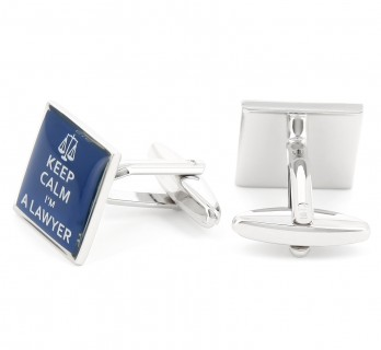 Lawyer cufflinks - Keep Calm I'm a Lawyer