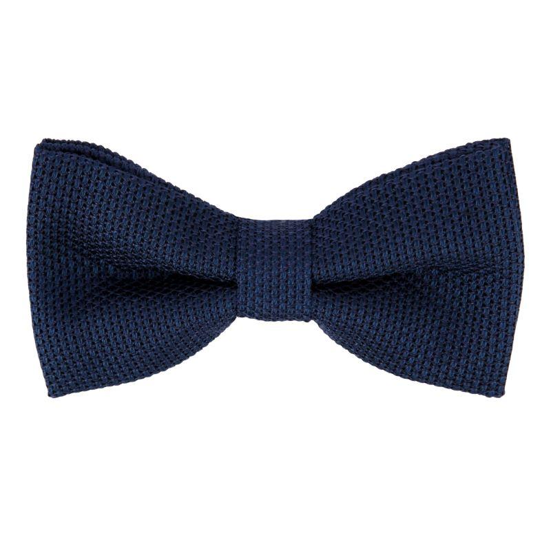 Night Blue Grenadine Silk The Nines Bow Tie - Grenadines IV
