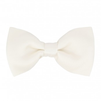 White Satin Bow Tie - Tilbury