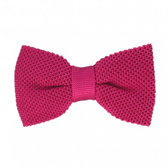 Fuchsia Knitted Silk Bow Tie - Monza
