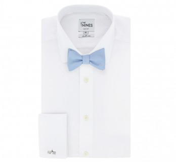 Light Blue Silk Bow Tie - Milan II