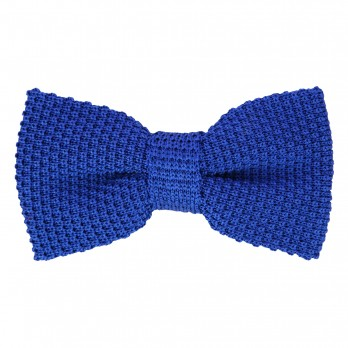 Royal Blue Knit Bowtie - Monza II