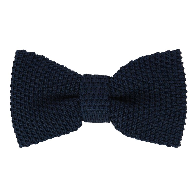 knit navy blue bow tie the house of ties