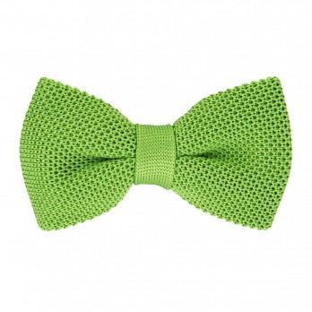 Apple Green Knit Bowtie - Monza