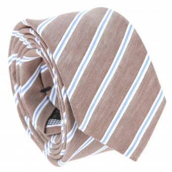 Braun tie with stripes The Nines