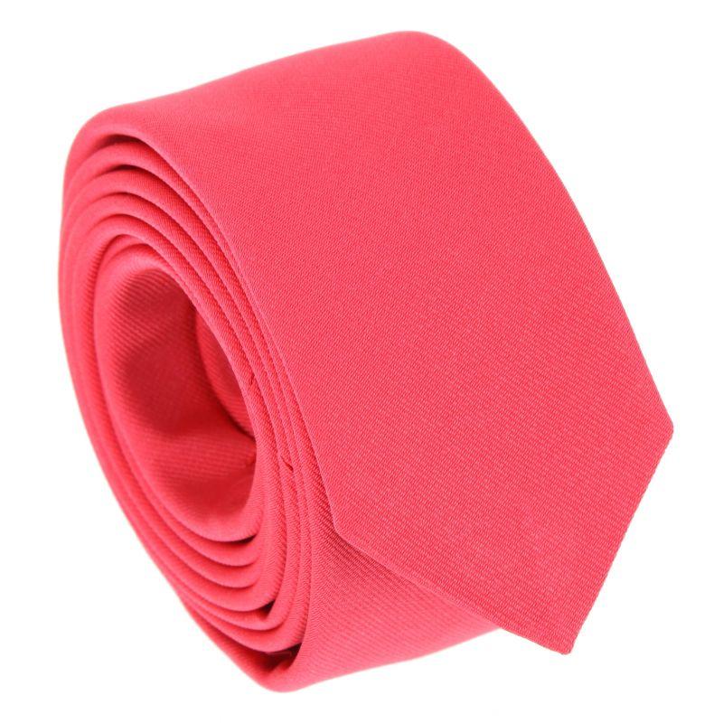 Coral Pink Narrow Tie - Sienne