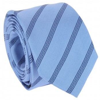 Blue tie with stripes The Nines