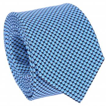 Navy blue tie with oval pattern The Nines