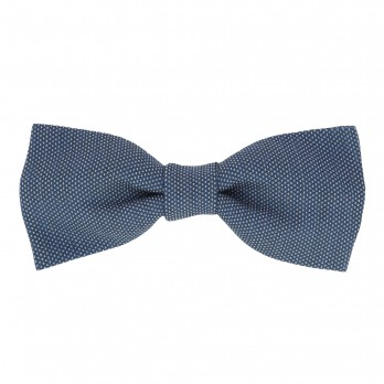 Denim blue Bow Tie with Pinhead Pattern - Breteuil II