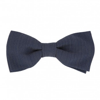Navyblue Bow Tie with Pinhead Pattern - Breteuil II