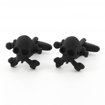 Matte black cufflinks - Saint-Domingue