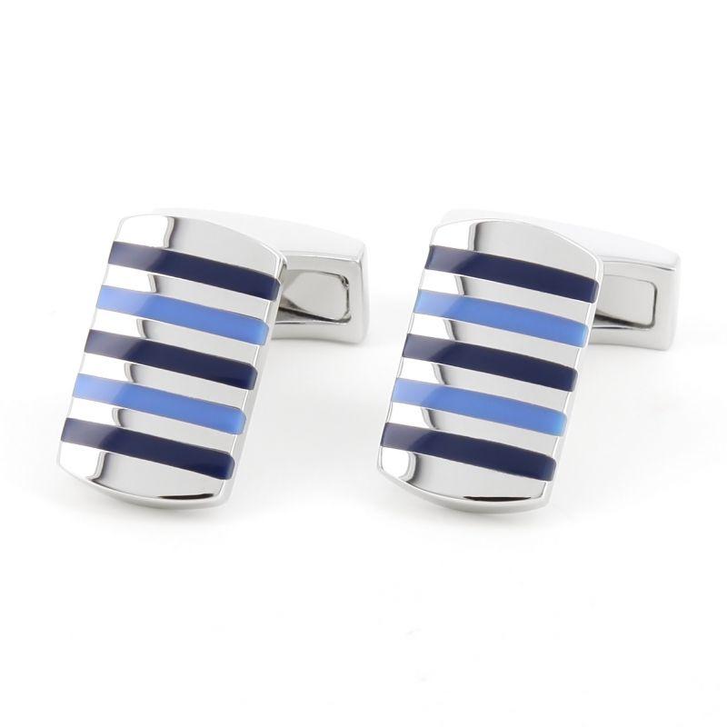 Striped blue cufflinks - Kobe VI