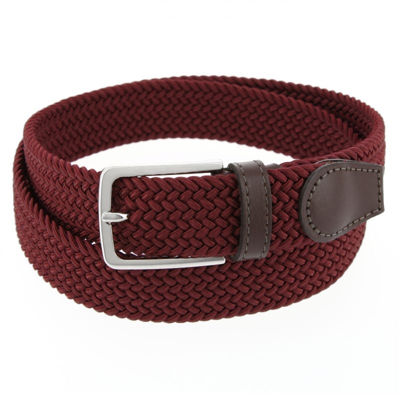 6d37fa16058df Elastic braided belt in navy blue - Rob III - The Nines