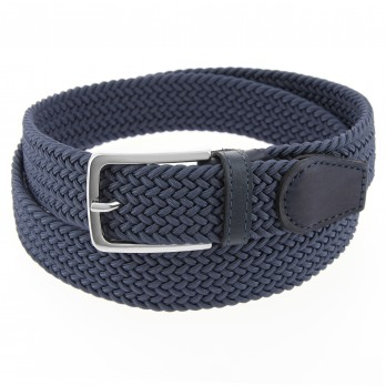 Elastic braided belt in steel blue - Rob III
