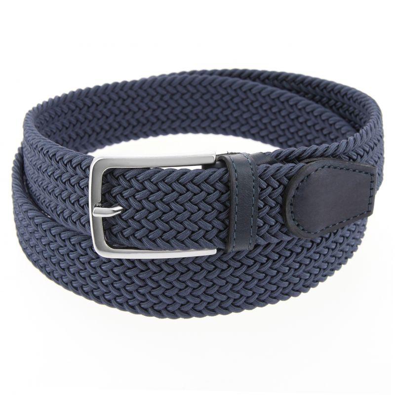 5e9e22cc49e28 Elastic braided belt in steel blue - Rob II - The Nines