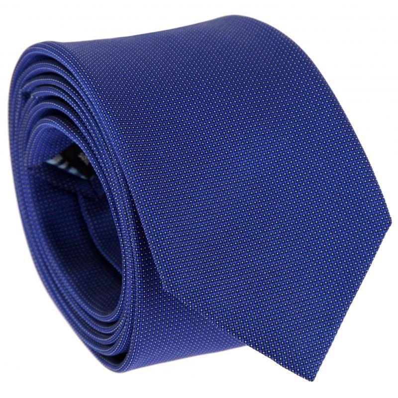 Navy blue pinhead pattern tie - The Nines