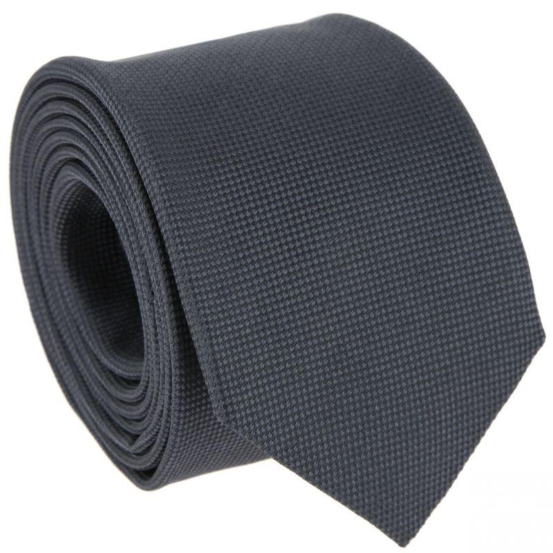 Night blue braided silk tie - The Nines