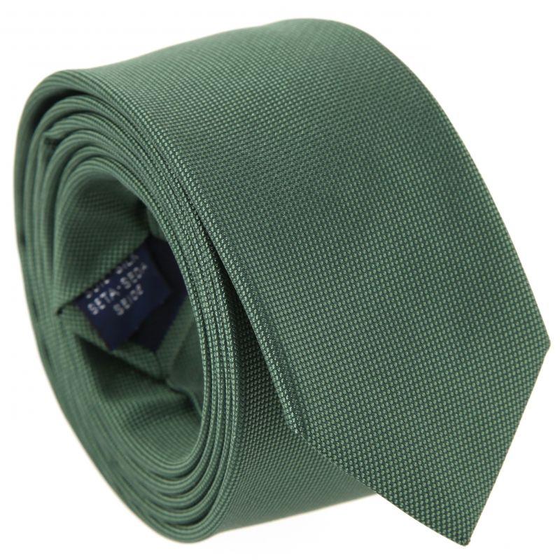 Kaki green braided silk tie The Nines