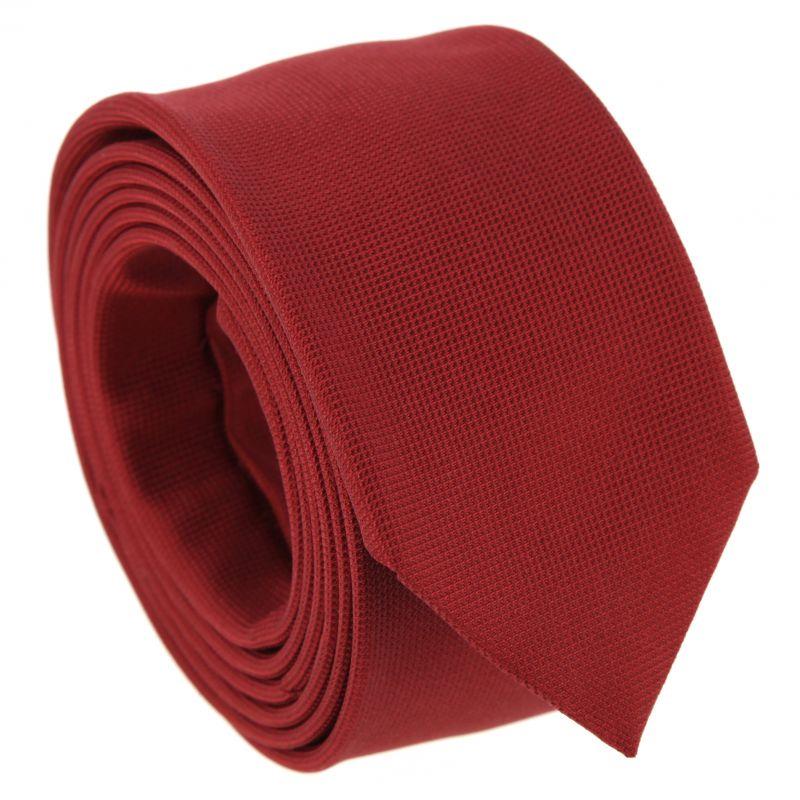 Dark red braided silk tie The Nines