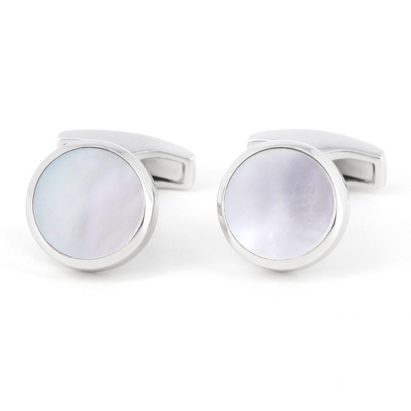 Nacre sterling silver cufflinks - Saint-Honoré
