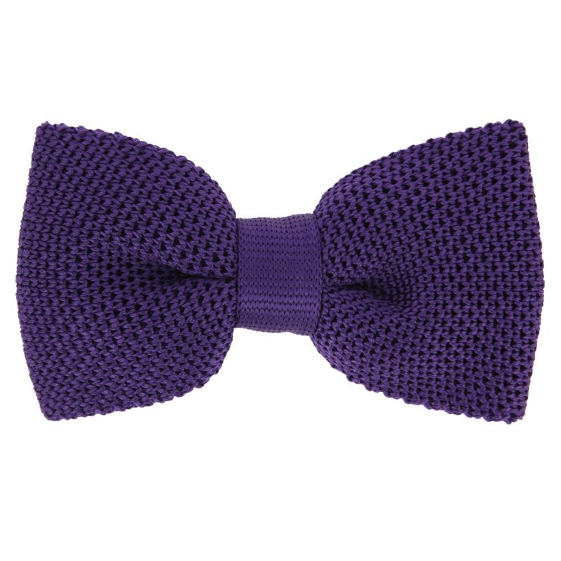 violet knitted silk bow tie monza the house of ties