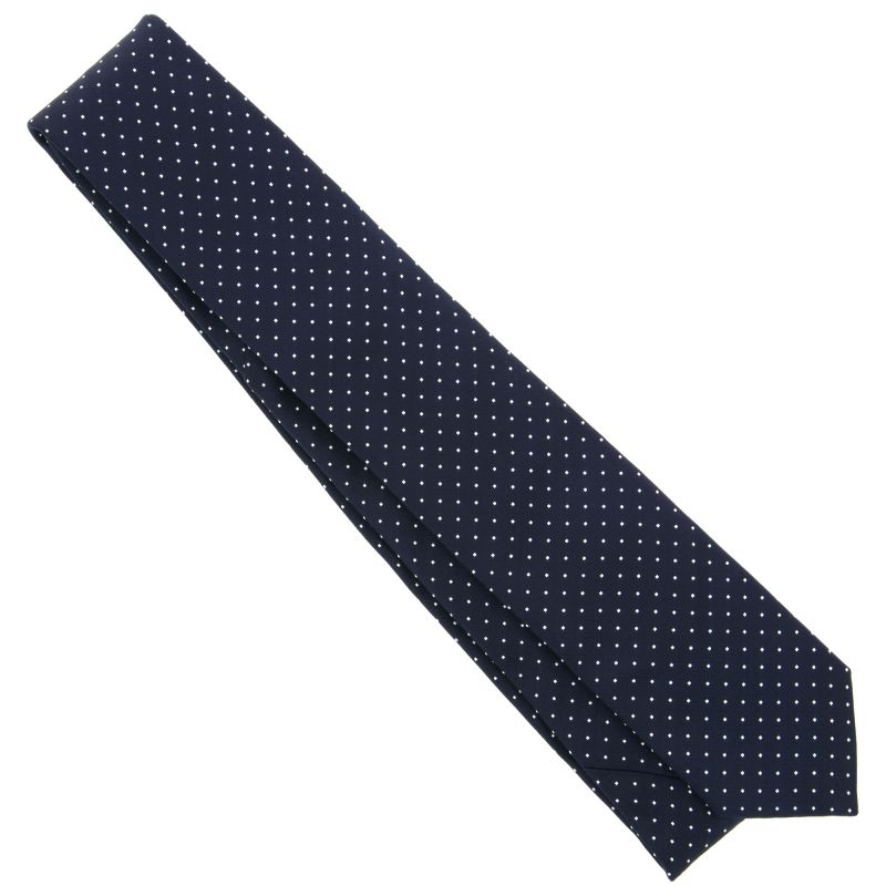 Navy Blue White And Gray Bedroom: Navy Blue Tie With White Mini Dots