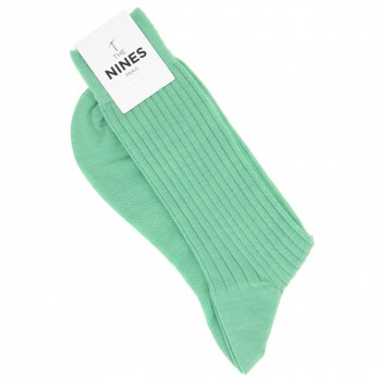 Green virgin wool socks