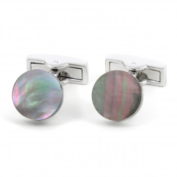 Round mother of pearl cufflinks - Manado