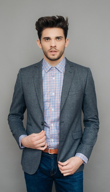 Gray milleraies flannel jacket