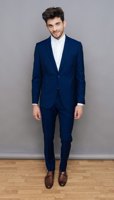 Mohair blue suit from The Nines